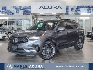 Used 2019 Acura RDX A-Spec, Red interior, Acura certified 7yrs/160km w for sale in Maple, ON