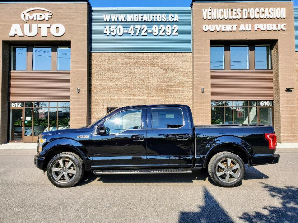 used 2016 ford f-150 cab supercrew 4rm 145 po lariat for sale in st-eustache, quebec carpages.ca