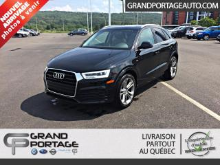 Used 2017 Audi Q3 2.0T Technik quattro 4 portes **GPS**Toi for sale in Rivière-Du-Loup, QC