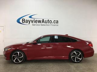 Used 2018 Honda Accord Sport - 6 SPD! 1/2 LTHR! SUNROOF! ALLOYS! PWR GROUP! TURBO! for sale in Belleville, ON