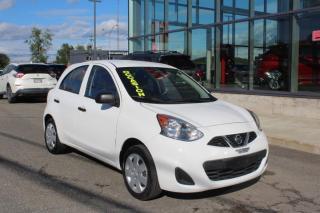 Used 2015 Nissan Micra S à hayon fiable et économique 28 000km for sale in Lévis, QC