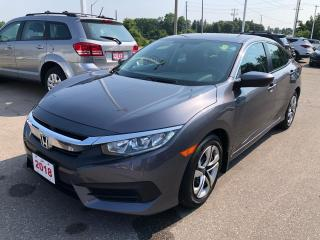 Used 2018 Honda Civic LX REARVIEW CAMERA WITH GUIDELINES | APPLE CARPLAY™ & ANDROID AUTO™ CONNECTIVITY for sale in Cambridge, ON