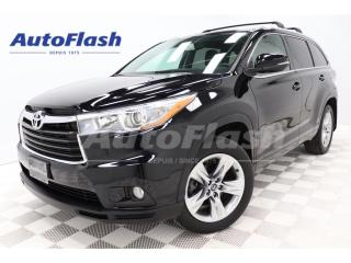 Used 2016 Toyota Highlander Limited 7-Pass *Blind-Spot *GPS/Camera *Toit-Pano for sale in St-Hubert, QC