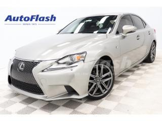 Used 2015 Lexus IS 250 F-Sport-3 AWD *Heads-Up *Blind-Spot *Cooled-Seats for sale in St-Hubert, QC