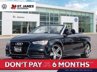 Used 2016 Audi A3 2.0T Technik, Push to Start, Backup Camera, Heated Seats for sale in Winnipeg, MB