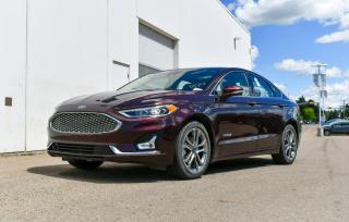 Used 2019 Ford Fusion Hybrid TITANIUM HYBRID FWD for sale in Red Deer, AB