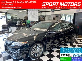 Used 2016 Acura TLX V6 Elite+A-SPEC+Nav+Vented Seats+BSM+Accident Free for sale in London, ON