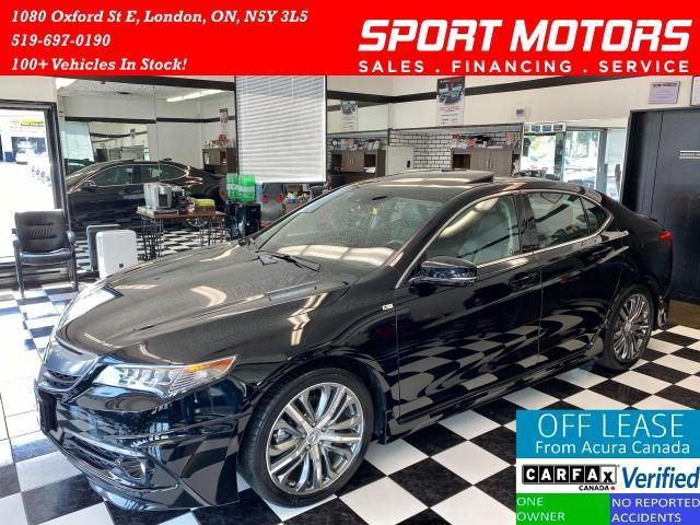 2016 Acura TLX V6 Elite+A-SPEC+Nav+Vented Seats+BSM+Accident Free