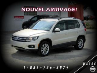 Used 2012 Volkswagen Tiguan 4MOTION + COMFORTLINE + TOIT + CUIR + BL for sale in Magog, QC