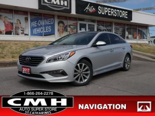 Used 2017 Hyundai Sonata Limited  LEATH NAV PANO LD P/SEATS BT HS for sale in St. Catharines, ON
