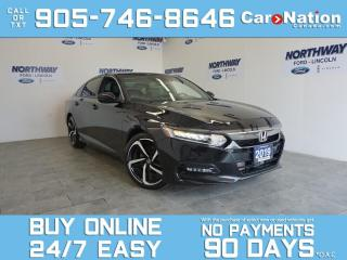 Used 2019 Honda Accord Sedan SPORT | LEATHER | SUNROOF | TOUCHSCREEN | ONLY 12K for sale in Brantford, ON