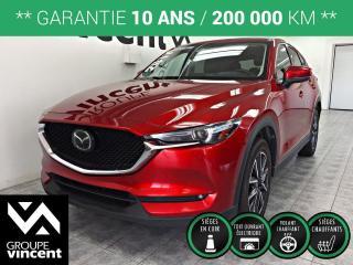 Used 2017 Mazda CX-5 GT AWD GPS CUIR TOIT ** GARANTIE 10 ANS ** VUS léger et polyvalent, incroyablement robuste, performant et économique! for sale in Shawinigan, QC