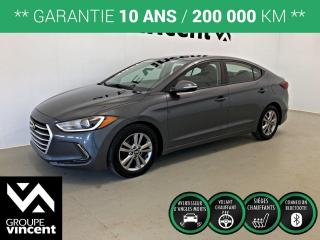 Used 2017 Hyundai Elantra GL ** GARANTIE 10 ANS ** Bas kilométrage! for sale in Shawinigan, QC