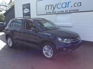 Used 2016 Volkswagen Tiguan Special Edition PANOROOF, HEATED SEATS, ALLOYS, BACKUP CAM!! for sale in North Bay, ON