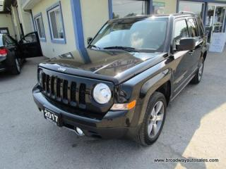 Used 2017 Jeep Patriot LOADED HIGH-ALTITUDE EDITION 5 PASSENGER 2.4L - DOHC.. 4X4 SYSTEM.. LEATHER.. HEATED SEATS.. POWER SUNROOF.. KEYLESS ENTRY.. for sale in Bradford, ON