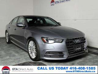 Used 2017 Audi A6 2.0T S-Line Quattro Nav Sun Camera Certified for sale in Toronto, ON