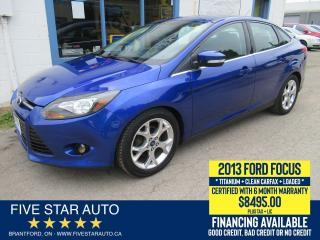 Used 2013 Ford Focus Titanium *Clean Carfax* Certified + 6 Mth Warranty for sale in Brantford, ON