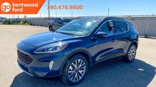 New 2020 Ford Escape TITANIUM 400A | 2.5L HYBRID | Wireless Charging | Leather Seats | NAV | Heated Steering Wheel | Foot Activated Liftgate | Panoramic Vista Roof for sale in Edmonton, AB