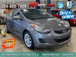 Used 2012 Hyundai Elantra GL for sale in Winnipeg, MB