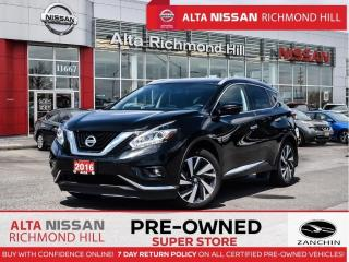 Used 2016 Nissan Murano SL Plat.   Leather   360   Pano    Cooling Seats for sale in Richmond Hill, ON
