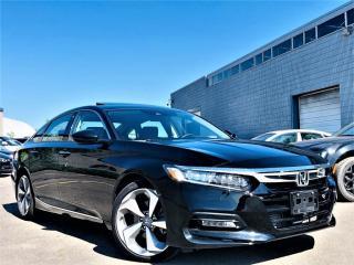 Used 2019 Honda Accord Sedan TOURING HUD ADAPTIVE CRUISE SUNROOF LANE ASIST VENT SEATS! for sale in Brampton, ON
