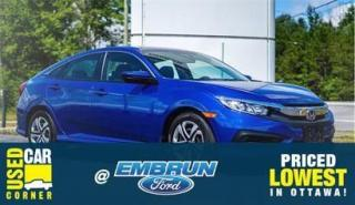 Used 2018 Honda Civic SEDAN LX for sale in Embrun, ON