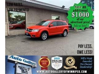 Used 2018 Dodge Journey SXT* LOW KMS/Bluetooth/Reverse Camera/REMOTE START for sale in Winnipeg, MB