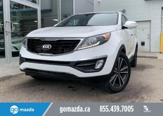 Used 2016 Kia Sportage SX - AWD, EXTREMELY LOW KMS, NAV, BACK UP, IN WONDERFUL WHITE! for sale in Edmonton, AB