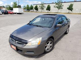 Used 2007 Honda Accord EX-L, Low km, Sunroof, 4 Dr, 3/Y Warranty availabl for sale in Toronto, ON
