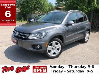 Used 2014 Volkswagen Tiguan 4MOTION Panorama Roof Leather for sale in St Catharines, ON