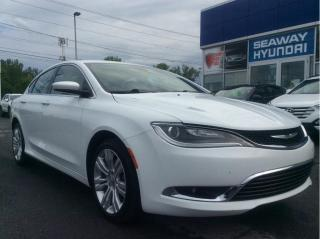 Used 2016 Chrysler 200 Limited - V6 - Bluetooth - Touchscreen for sale in Cornwall, ON