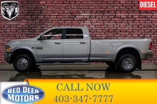 Used 2017 RAM 3500 4x4 Crew Cab Laramie Dually Diesel AISIN Leather Roof Nav for sale in Red Deer, AB