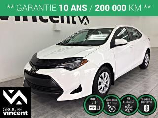 Used 2017 Toyota Corolla CE ** GARANTIE 10 ANS ** Belle berline fiable et sécuritaire! for sale in Shawinigan, QC