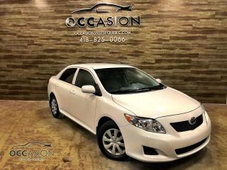 Used 2010 Toyota Corolla TOYOTA COROLLA CE automatique BLANC for sale in Ste-Brigitte-de-Laval, QC