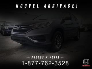 Used 2016 Honda CR-V LX + A/C + CRUISE + CAMERA + WOW! for sale in St-Basile-le-Grand, QC
