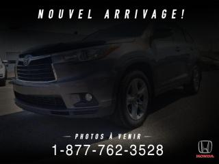 Used 2015 Toyota Highlander HYBRID HYBRID + LIMITED + CUIR + TOIT + WOW! for sale in St-Basile-le-Grand, QC
