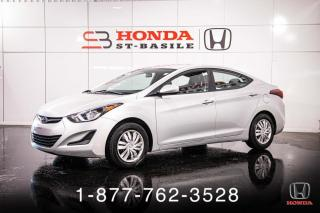 Used 2015 Hyundai Elantra L + MANUELLE + GROUPE ELECTRIQUE + WOW! for sale in St-Basile-le-Grand, QC