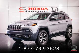 Used 2017 Jeep Cherokee TRAILHAWK + AWD + TOIT + CAMERA + WOW! for sale in St-Basile-le-Grand, QC