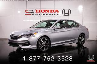 Used 2016 Honda Accord SPORT + TOIT + CAMERA + MAGS + WOW! for sale in St-Basile-le-Grand, QC