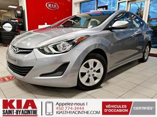 Used 2016 Hyundai Elantra L ** GR ÉLECTRIQUE + A/C for sale in St-Hyacinthe, QC