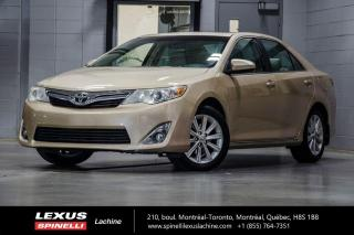 Used 2012 Toyota Camry 4 CYL XLE AUTO; CUIR TOIT CAMERA BLUETOOTH MAGS BAS KILOMÉTRAGE - TOIT-OUVRANT - CAMÉRA DE RECUL - MAGS 17'' for sale in Lachine, QC