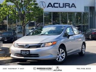Used 2012 Honda Civic Sedan LX 5sp for sale in Markham, ON