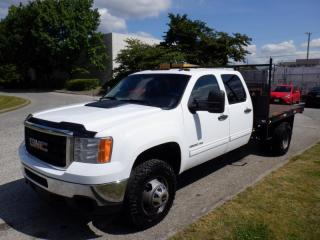 Used 2011 GMC Sierra 3500 HD Flat Deck 9 foot Crew Cab Dually 4WD for sale in Burnaby, BC