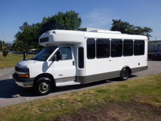 Used 2012 Chevrolet Express G4500 17 Passenger Bus Diesel with Wheelchair Accessibility for sale in Burnaby, BC