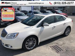 Used 2014 Buick Verano Leather Group  LEATHER PKG, SUNROOF, REAR CAMERA, BLIND ZONE ALERT for sale in Ottawa, ON