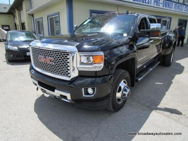 2015 GMC Sierra 3500 1-TON DENALI HD EDITION 5 PASSENGER 6.6L - DURAMAX.. 4X4.. CREW-CAB.. 8-FOOT-DUALLY.. NAVIGATION.. POWER MIRRORS.. POWER PEDALS.. BOSE AUDIO..