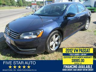 Used 2012 Volkswagen Passat 2.5L Comfortline - Certified w/ 6 Month Warranty for sale in Brantford, ON