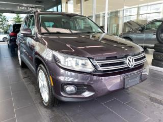 Used 2016 Volkswagen Tiguan Comfortline 4MOTION, LEATHER, PANOROOF, POWER HEATED LEATHER SEATS for sale in Edmonton, AB