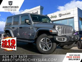 New 2019 Jeep Wrangler Unlimited Sahara  - Leather Seats - $361 B/W for sale in Abbotsford, BC