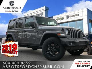 New 2019 Jeep Wrangler Unlimited Sport  - Heated Seats - $302 B/W for sale in Abbotsford, BC